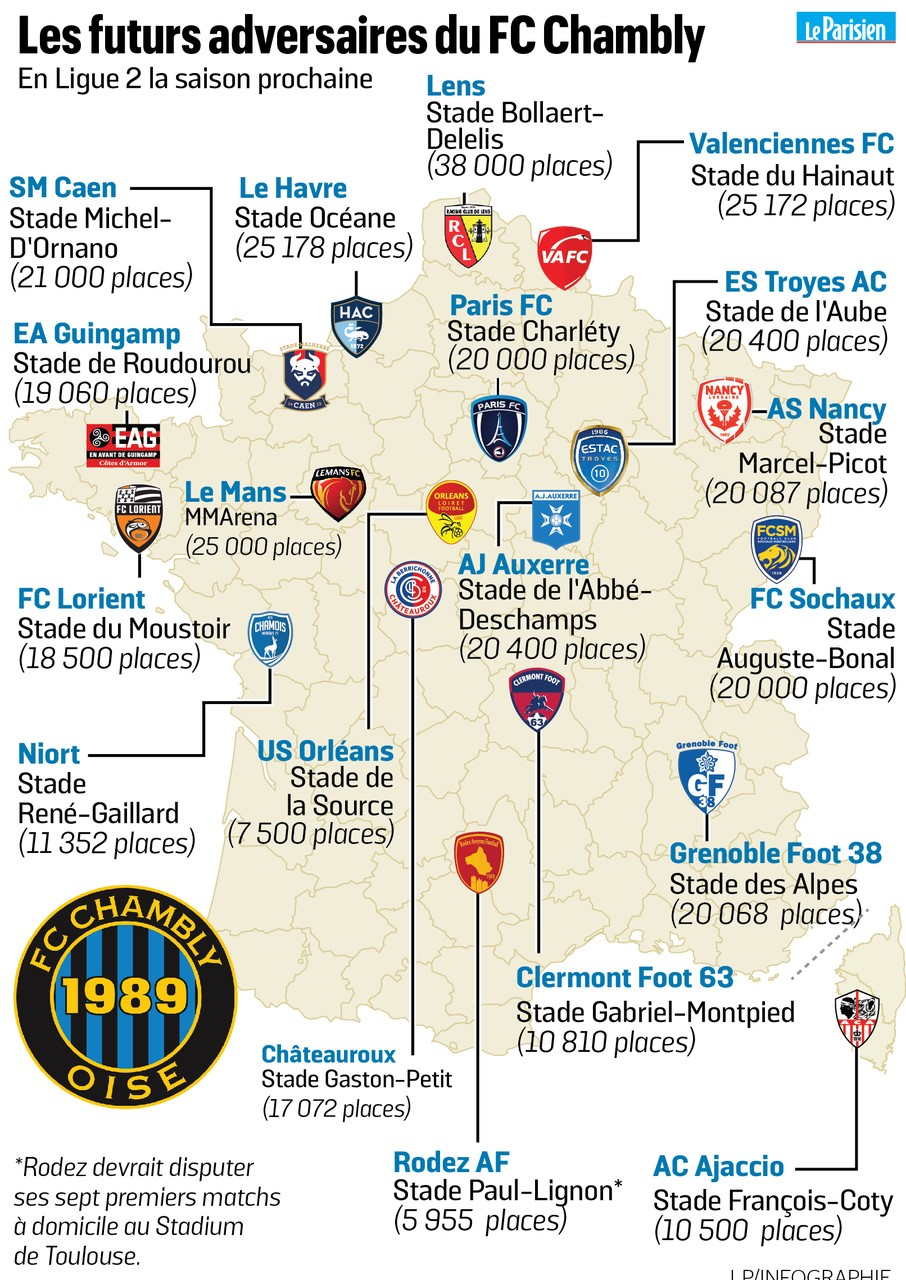 Carte clubs L2 source journal le parisien