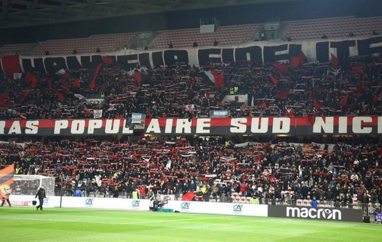 Photo supporter ultra populaire Sud Nice