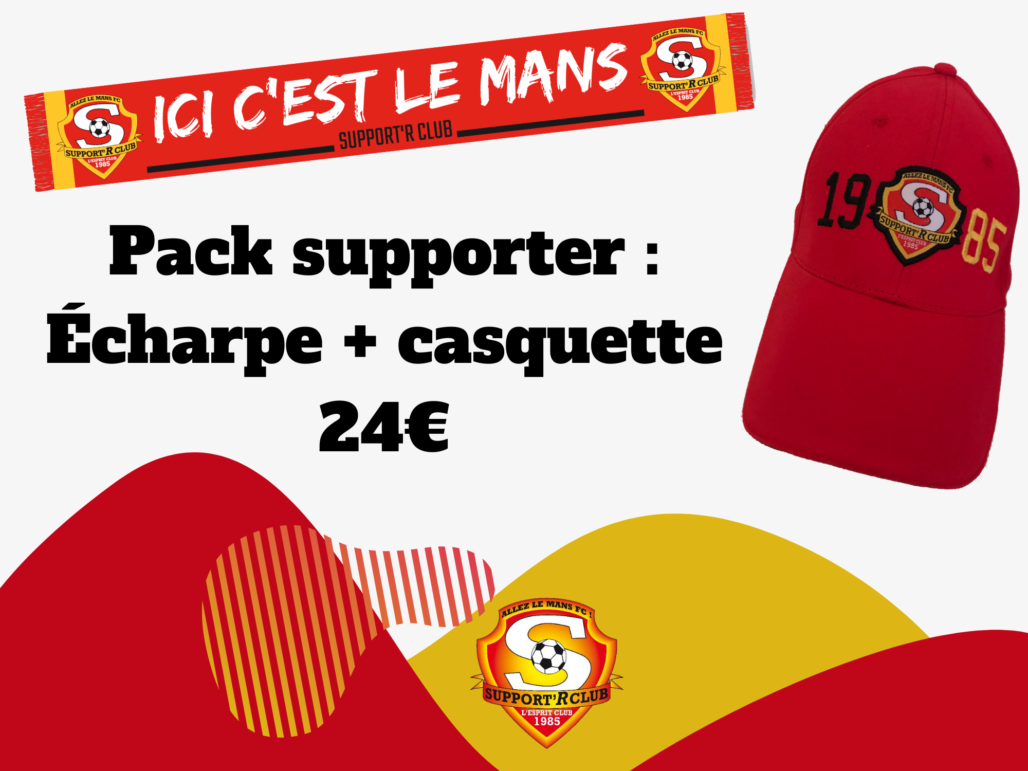 Affiche boutique pack supporter