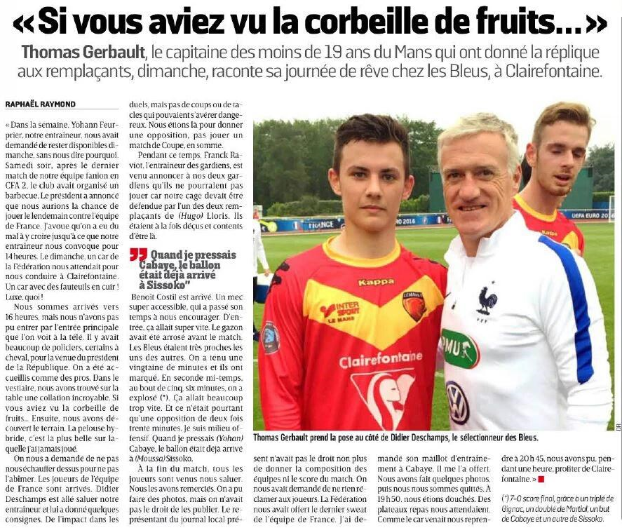 Article U19 Léquipe